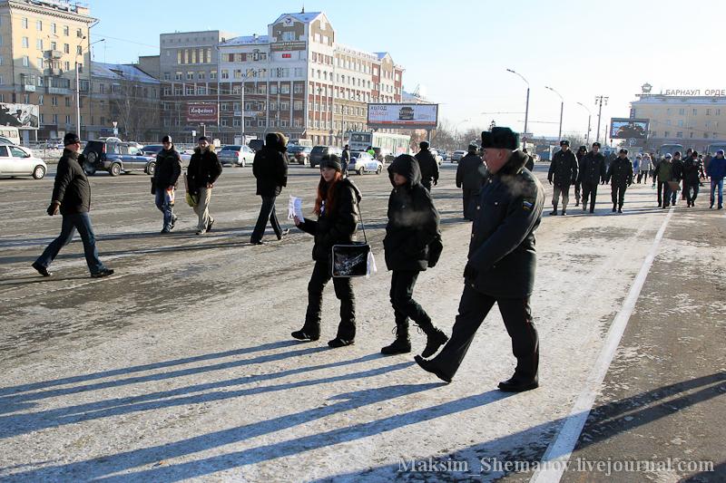 Митинг «За честные выборы» в Барнауле завершился массовыми задержаниями протестующих
