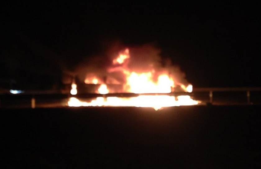 На машину сводной мобильной группы напали
