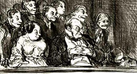 Оноре Домье. Из цикла театральных карикатур. Середина XIX века. Источник: parterre.com