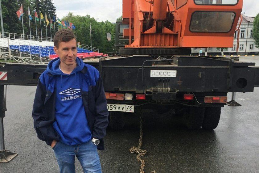 В Ульяновске оштрафовали активистов, приковавших себя цепями к автокрану