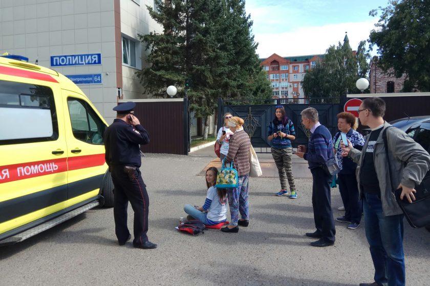 На казанскую активистку составили протокол после групповой зарядки рядом с правительством Татарстана