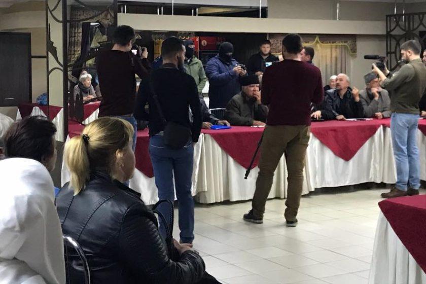 """Auf der Krim wurde ein Besuch des Zentrums """"E"""" bei einem Treffen der """" Crimean Solidarity """" gemeldet"""